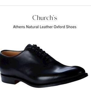 CHURCH'S ATHENS NATURAL LEATHER OXFORDS